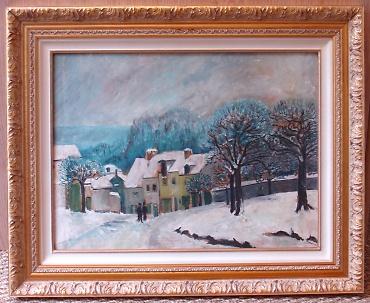 Cadre tableau peinture huile toile artiste peintre evreux - Cadre photo a peindre ...